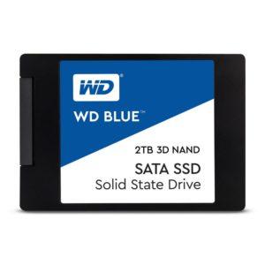SSD|WESTERN DIGITAL|Blue|2TB|SATA 3.0|TLC|Write speed 530 MBytes/sec|Read speed 560 MBytes/sec|2,5″|TBW 500 TB|MTBF 1750000 hours|WDS200T2B0A